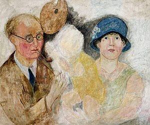 Marcel Gromaire - Portrait of Marcel Gromaire and his family by Tadeusz Makowski, ca. 1925, National Museum in Warsaw