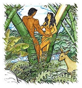 Philippine mythical creatures - Malakas and Maganda.