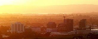 Manukau City - The Manukau skyline looking northwest.