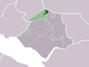 Heenvliet - Image: Map NL Bernisse Heenvliet