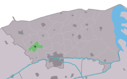 Location in the Dongeradeel municipality