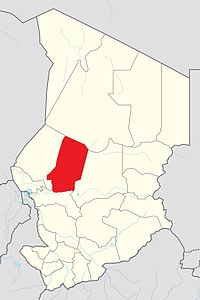 Map of Chad showing Barh El Gazel