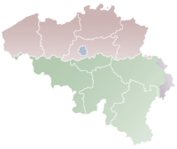 Location on map of Belgium