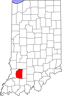 map of Indiana highlighting Daviess County
