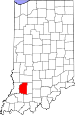 Map of Indiana highlighting Daviess County.svg