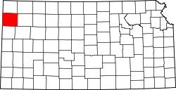 Map of Kansas highlighting Sherman County.svg