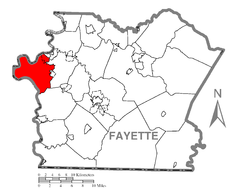 Map of Luzerne Township, Fayette County, Pennsylvania Highlighted.png
