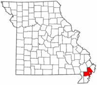 Map of Missouri highlighting New Madrid County.png