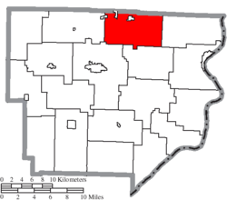 Location of Sunsbury Township in Monroe County