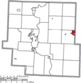 Map of Muskingum County Ohio Highlighting New Concord Village.png