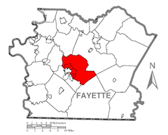 Map of North Union Township, Fayette County, Pennsylvania Highlighted.png