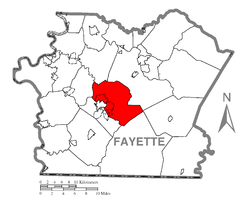 Location of North Union Township in Fayette County