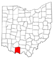Map of Ohio highlighting Adams County.png