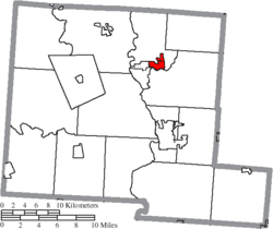 Location of Ashville in Pickaway County
