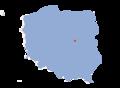 Map of Poland - Milanowek.png