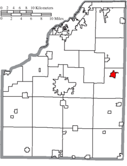 Location of Pemberville in Wood County
