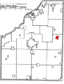 Map of Wood County Ohio Highlighting Pemberville Village.png