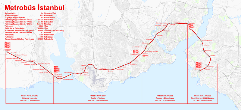 File:Map of the Istanbul Metrobüs.png
