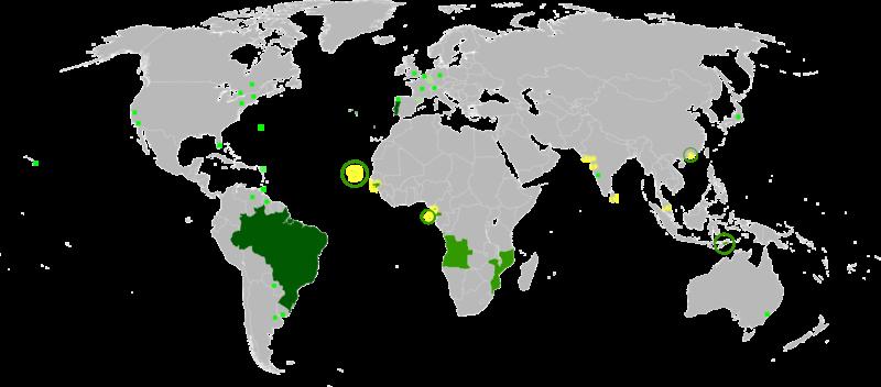 7176934c4 A língua portuguesa no mundo  Língua materna Língua oficial e  administrativa Língua cultural ou secundária