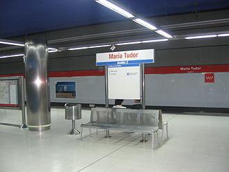 María Tudor (Madrid Metro) - Image: María Tudor Metro Ligero