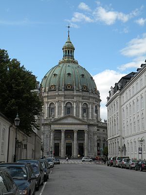 Marble church in Copenhagen, Denmark