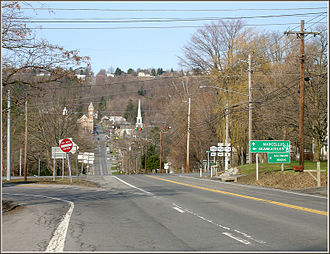Marcellus (village), New York - Approaching Marcellus village on the historic Seneca Turnpike