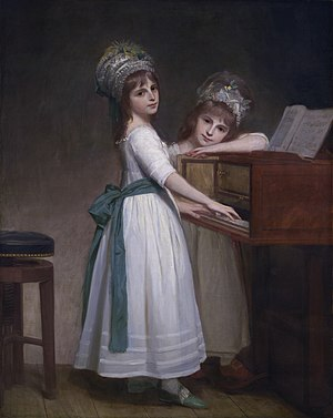 Edward Thurlow, 1st Baron Thurlow - Maria and Catherine, daughters of Edward Thurlow, 1st Baron Thurlow (George Romney, 1783)