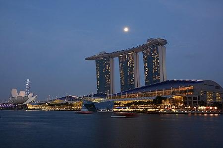 Marina Bay Sands, Singapore, at night - 20140213.jpg