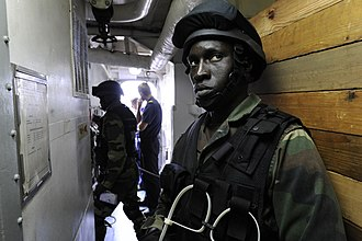 Armed Forces of Senegal - Senegalese marines (training mission in 2011).