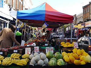 North End Road, Fulham - North End Road Market