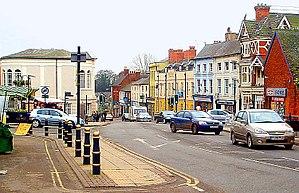 A426 road - Image: Market Street, Lutterworth