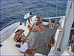 Marlin del rey guests relaxing and being served by the crew.jpg