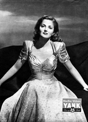 Martha Vickers - Martha Vickers pin-up in Yank (1945)