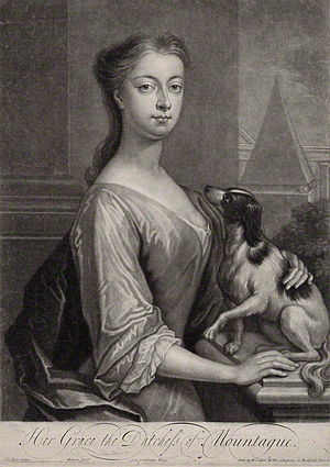 John Montagu, 2nd Duke of Montagu - Engraving by John Simon of Mary Montagu, Duchess of Montagu.