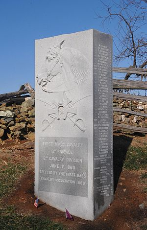 Battle of Aldie - Monument to the 1st Massachusetts