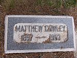 Headstone of Matthew Cowley