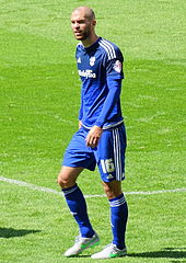 Matthew Connolly on the pitch for Cardiff City in 2012.