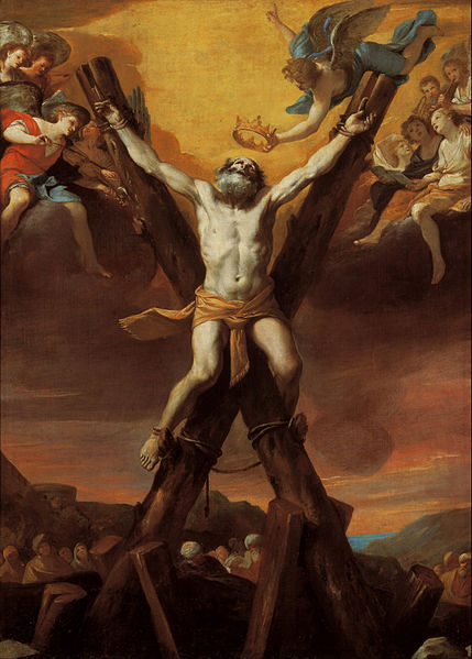 Mattia Preti - The crucifixion of St Andrew dans images sacrée 429px-Mattia_Preti_-_The_crucifixion_of_St_Andrew_-_Google_Art_Project