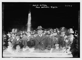 1916 New York Giants season - John Purroy Mitchel, the Mayor of New York throwing out the ceremonial first pitch at the Opening Day game of the 1916 New York Giants season at the Polo Grounds on April 20, 1916