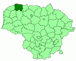 Location of Mažeikiai district municipality within Lithuania