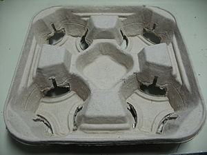 Molded pulp - Image: Mc Donalds Molded Pulp Drink Tray Top