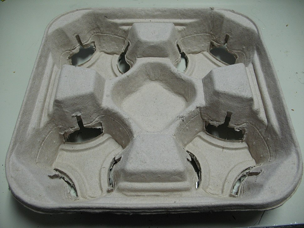 McDonalds Molded Pulp Drink Tray Top