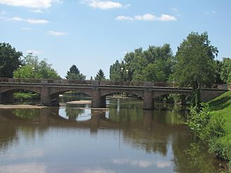 Meaulne - The bridge over the Aumance, in Meaulne