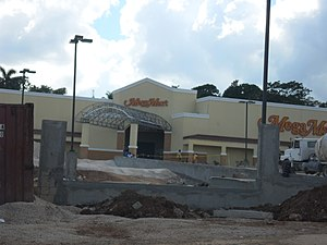 Manchester Parish - MegaMart, Mandeville under construction in December 2012.