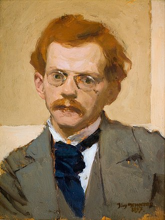 Józef Mehoffer - Self-Portrait, oil on canvas of 1897, in the National Museum, Warsaw