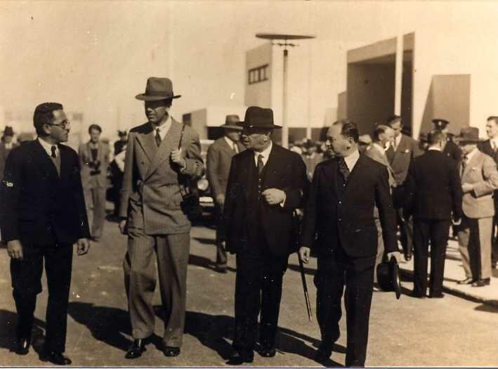 Meir Dizengoff and Gustaf VI Adolf of Sweden, 1932