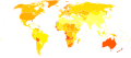 Melanoma and other skin cancers world map - Death - WHO2004.svg
