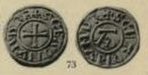 Edmund the Martyr - A St Edmund memorial penny.