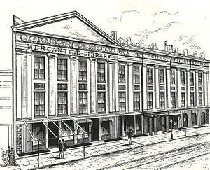 New York Mercantile Library - The Mercantile Library in the Astor Opera House building, 1886