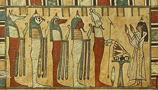 Meresimen osiris quatre fils four sons horus Louvre N4024
